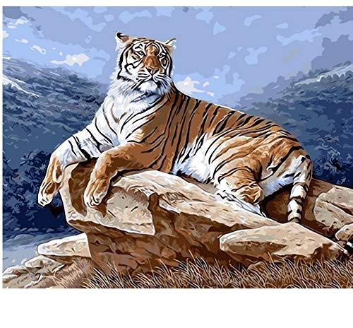 Liweixky Rahmenlos Tiger ölgemälde Diy Malen Nach Zahlen Tier Bär