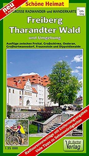 grosse-radwander-und-wanderkarte-freiberg-tharandter-wald-und-umgebung-ausflge-zwischen-freital-grossschirma-oederan-grosshartmannsdorf-frauenstein-und-dippoldiswalde-1-35000-schne-heimat