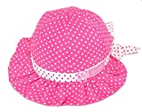 Dealzip Inc® Lovely Hot Pink Baby Girl Bowknot Polka Dots Summer Sun Beanie Hat – Flower Cap for Beach
