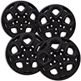 OxGord Hubcaps for 17 inch Standard Steel Wheels (Pack of 4) Wheel Covers - Snap On, Matte Black