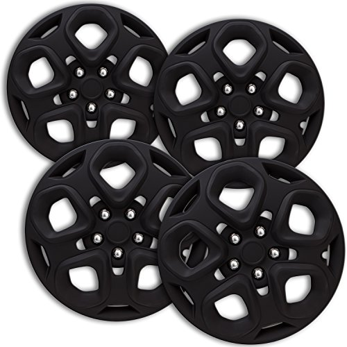 hub-caps-for-select-ford-fusion-pack-of-4-17-inch-matte-black-wheel-covers