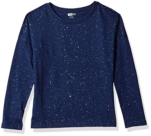 Crazy 8 Little Girls' Glitter Top, Handsome Navy, M (Girls Glitter T-shirt)
