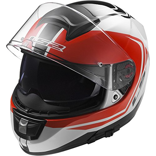 LS2 Helmets Citation Wake Full Face Motorcycle Helmet with Sunshield (White/Black , X-Small)