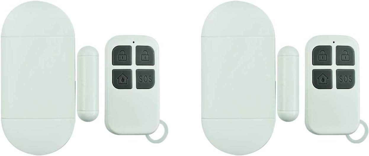 Security Anti-Theft Door/Window Alarm,2-Pack,Home Alarm System Wireless,Door Magnetic Alarm,Wireless Doorbell, Suitable for Apartments,Families,Garages,RVs,Dormitories,Offices.