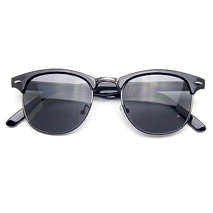 Amazon.com: Gafas de sol con espejo retrovisor de media ...