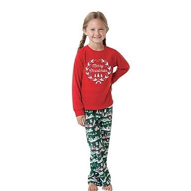 fd3d7e2c53c18 SANFASHION Pyjamas Ensemble Famille Assorti Vêtements de Nuit Impression de Noël  Manche Longue Tenues Noël Papa
