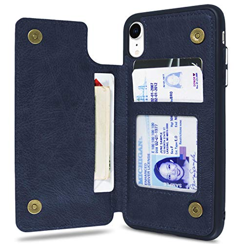 - CoverON [Daytripper Series] iPhone XR Wallet Case, Vegan Leather Slim Fit Credit Card Holder Phone Cover for Apple iPhone XR (6.1