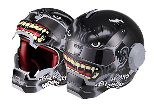 (OSNICH Japanese Anime Full Face Motorcycle Helmet Street Bike Dirt Bike ATV Model 610 (Adult and Youth Sizes, DOT Certified))