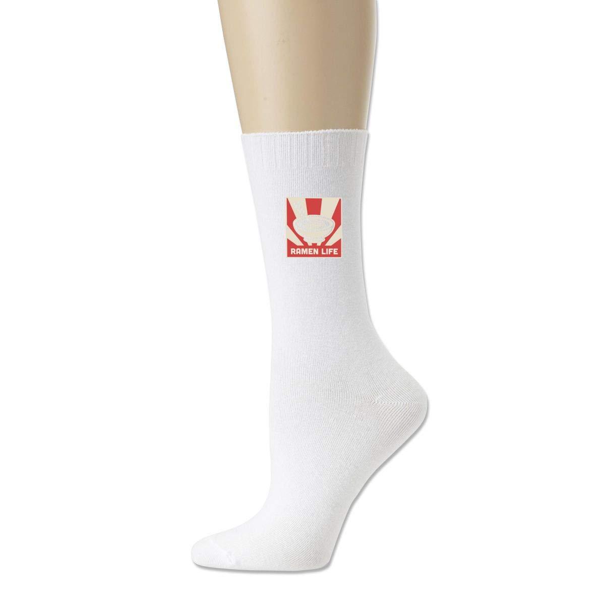 Retro Japanese RAMEN LIFE Cute Solid Socks For Socks