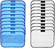 Pack de 20 paños de microfibra de limpieza mixtos de 25 húmedas + 10 seco para iRobot Braava 380 380t a 328 me