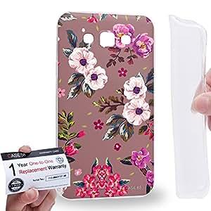 Case88 [Samsung Galaxy E7] Gel TPU Carcasa/Funda & Tarjeta de garantía - Art Fashion Autumn Season Floral Art1830