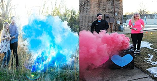 Baby Gender Reveal Pink and Blue Color (2 Pink and 2 Blue) by RSS Reveal Time