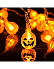 ZZX Halloween Pumpkin/Spider LED Fairy Lights, 3 Meters 20 LEDs Battery Operated String Lights for Halloween Decorations