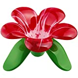 Koziol,Audrey 3231590 Red Transparent Tea Strainer Designed Like A Flower, 5,31X5,31X3,62-Inch