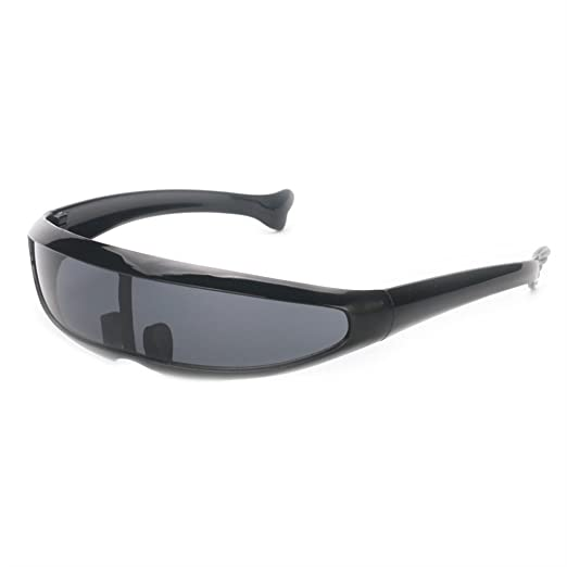 f7e49b78fe3b Futuristic Narrow Cyclops Sunglasses UV400 Personality Mirrored Lens  Costume Eyewear Glasses Funny Party Mask Decoration ( Sc 1 St Amazon.com