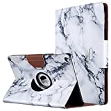 ULAK iPad Air Case, Multi-Angle Rotating Stand Protective Case Cover for Apple iPad Air (2013 Release) with Automatic Wake/Sleep Function (Artistic Marble Pattern)