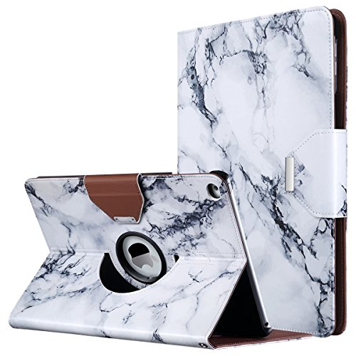 iPad Air Case,ULAK 360 Degrees Rotating Magnetic PU Leather Stand Case Cover for Apple iPad Air (2013 Release) With Automatic Wake/Sleep Function (Artistic Marble Pattern)