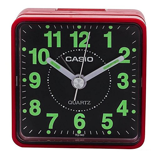 TQ140 Travel Alarm Clock - Red