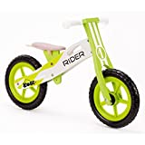 Kobe Green Rider Wooden Balance Bike, Green and White