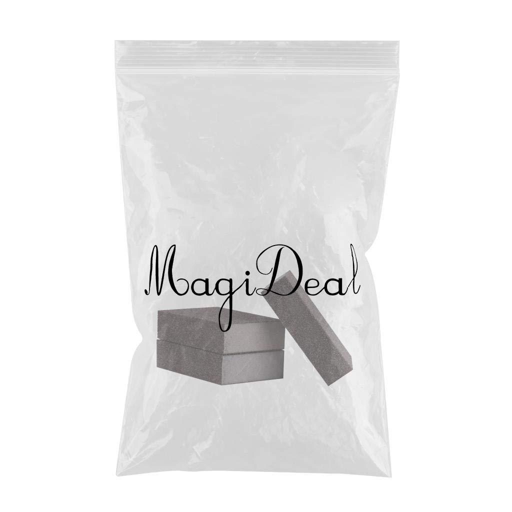 MagiDeal 3pcs Papier de pon/çage /Éponge /à Double Face Grain Papier de Verre Polissage Abrasif Couleur #320
