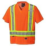 Pioneer V1050350-XL High Visibility Safety T Shirt-Traffic, Orange, X-Large