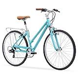sixthreezero Pave N' Trail Women's 7-Speed Hybrid Bike, 26' Wheels/...