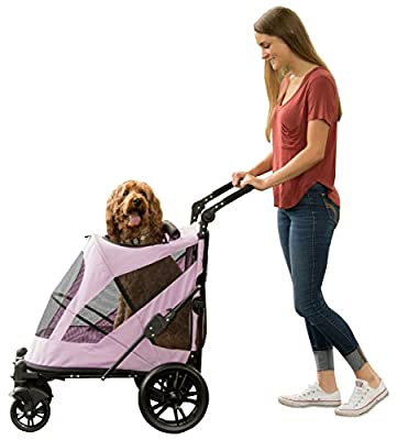 Pet Gear No-Zip Stroller, with push Button Entry for Single or Multiple Pets