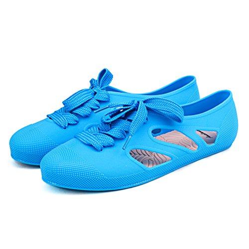 Shenduo - Chanclas de verano de material sintético cómodas para mujer D8020 Azul