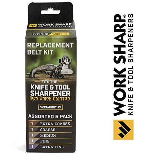 Official Replacement Belt Kit for the Work Sharp Knife and Tool Sharpener Ken Onion Edition ()
