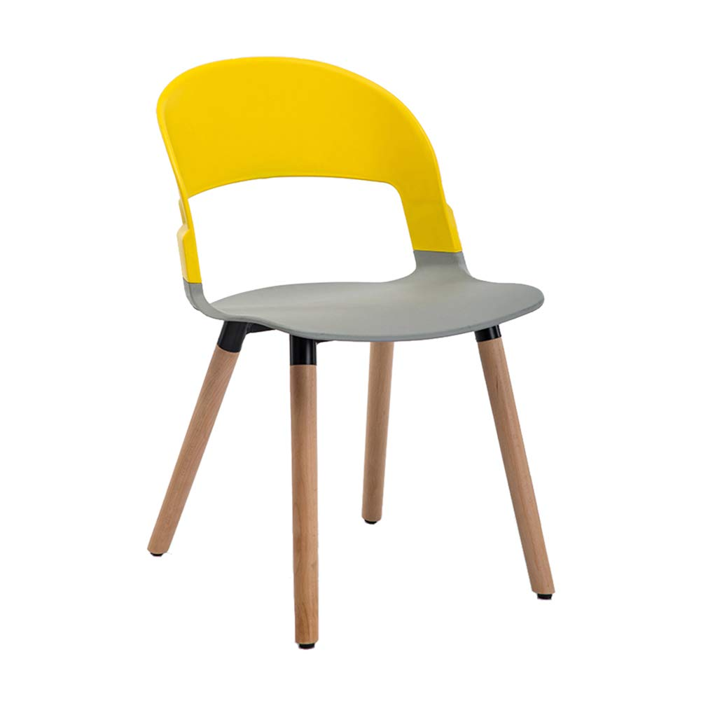 G Nordic Solid Wood Dining Chair,Modern Creative Leisure Chair, PP Plastic Makeup Stool,for Restaurant Pub Cafe Living Room Bedroom