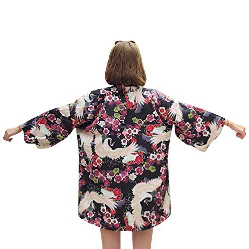 (ライチ) Lychee レディース カーディガン 和式パーカー コート 羽織 日焼け止めコート 花柄 ツールプリント 原宿風 復古 薄手 オーバーサイズ 着痩せ