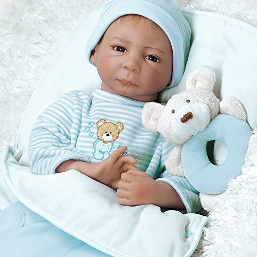 Paradise Galleries Reborn Boy Baby Doll That Looks Real Cuddle Bear Conner, GentleTouch Vinyl & Weighted Body, 4-Piece Set from Paradise Galleries