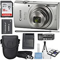 Canon PowerShot ELPH 180 Digital Camera (Silver) + 16GB...