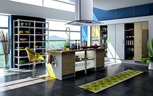 Winflo 36'' Island Stainless Steel/Arched Tempered Glass Ducted/Ductless Kitchen Range Hood with 450 CFM Air Flow LED Display Touch Control Included Dishwasher-Safe Aluminum Filter and 4x2W LED Lights by Winflo (Image #1)