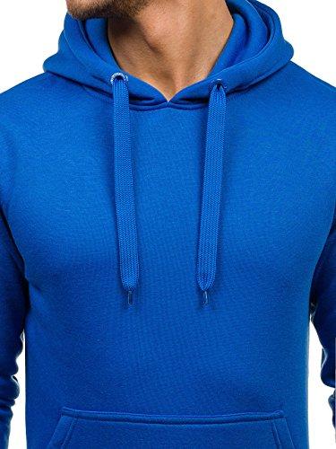 Cappuccio Sweat 1a1 Felpa – shirt Azzurro Pullover Con 2009 Bolf Uomo BwPHqZn