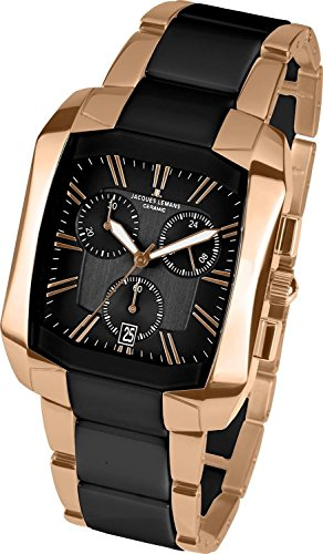 Jacques Lemans Dublin 1-1743C Ion Plated Stainless Steel Case Ion Plated Stainless Steel Anti-Reflective Sapphire Men's Watch
