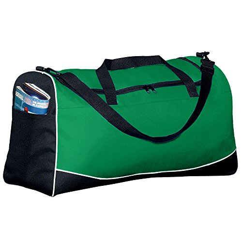 (Augusta Sportswear Large Tri-color Sport Bag OS Kelly/Black/White)