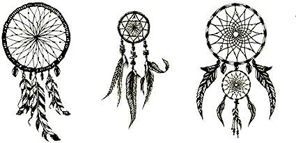 Oottati Pequeño Lindo Tatuaje Temporal Atrapasueños (2 Hojas ...