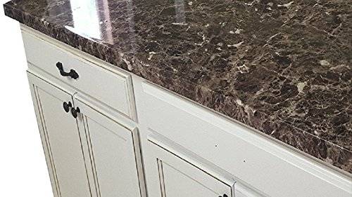 top Paint? No! Peel and Stick Granite NO PAINT Counter Top Film Transformation. 36