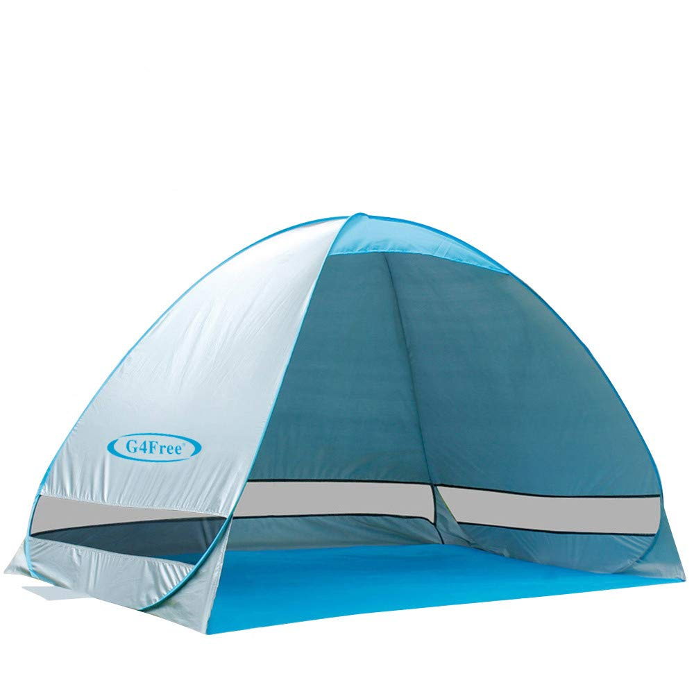 G4Free Large Pop up Beach Tent Automatic Sun Shelter Cabana Anti UV Instant Portable by G4Free