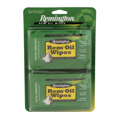 Remington Remington Oil Wipes, 12 Count 6in. X 8in. Remington Accessories 18411