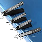MILEILUOYUE Nail clippers set black stainless steel