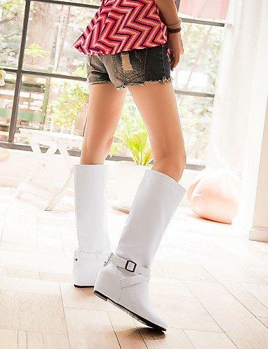 XZZ    Damenschuhe - Stiefel - Büro   Kleid   Lässig - Kunstleder - Niedriger Absatz - Rundeschuh   Geschlossene Zehe - Blau   Weiß   Grau B01L1GOM28 Sport- & Outdoorschuhe Charakteristisch 140fcc