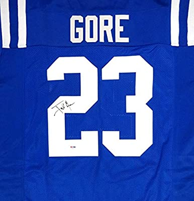 Indianapolis Colts Frank Gore Autographed Blue Jersey Psa/dna Stock #90924