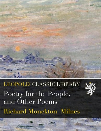 Read Online Poetry for the People, and Other Poems PDF