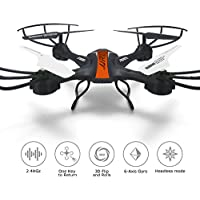 ANNONGONE JJRC H33 Headless Mode RC Drone Quadcopter 2.4G 4CH 6 Axis Gyro 360° Flip Remote Control RC Drone with Led Lights Orange