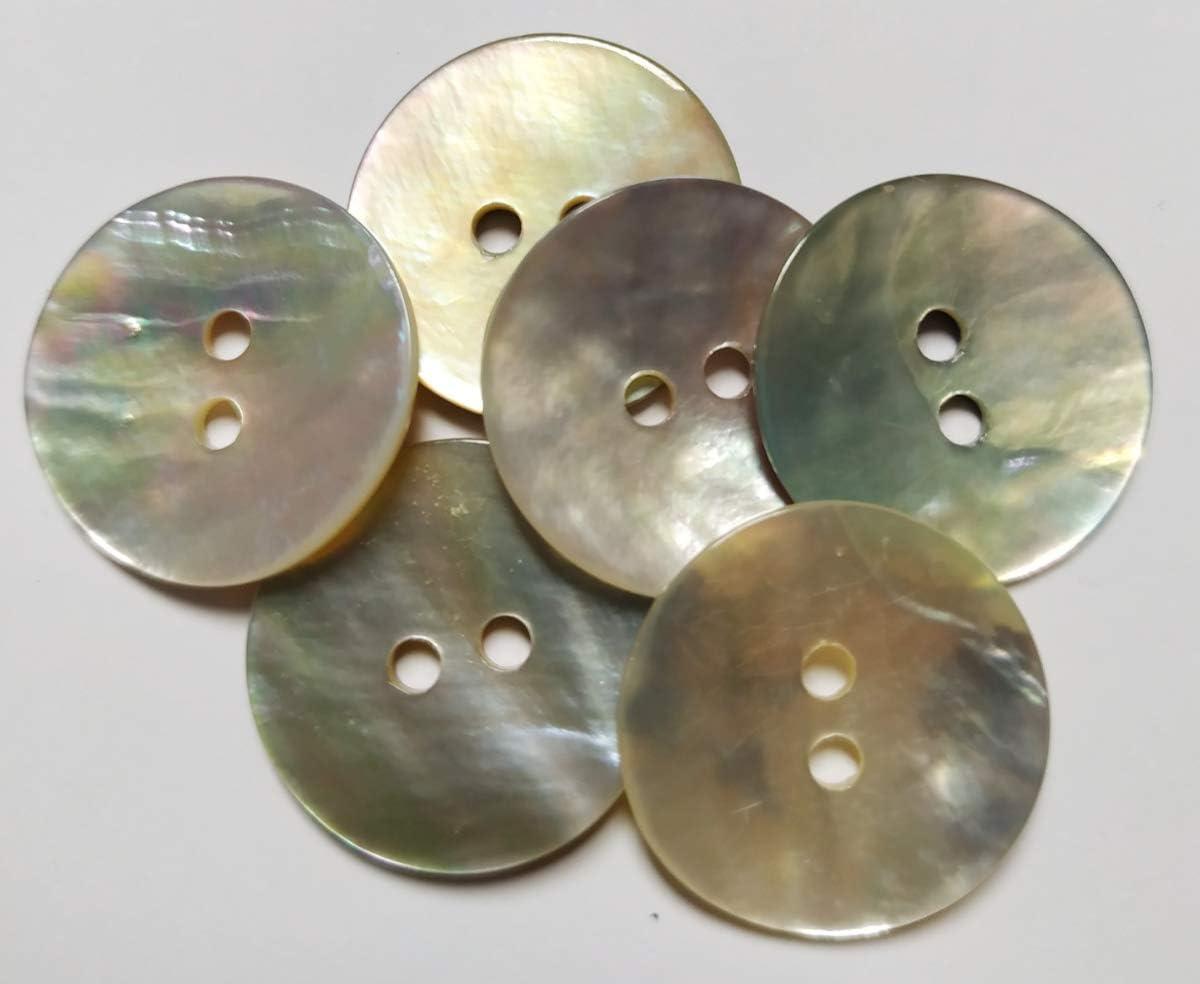 Bottoni madreperla naturale 18 mm