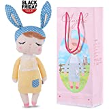 Stuffed Doll Toy Bunny Girls Baby Angela Plush Doll 14 inch Soft Cuddly Kind Rabbit Doll for Baby Kids - Birthday Gifts , Kid's Sleeping Partner , MeToo X SKM, Yellow
