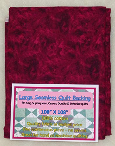 Quilt Backing, Large, Seamless, Maroon/Black, C49594-370