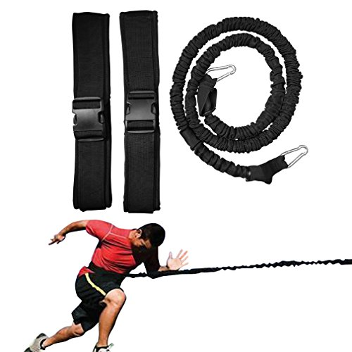 Soeenaper Resistance Running Bands-Waist Bands & Workout Guide 360° Agility 5.3Ft Speed Resistance Bands Gym Equipment for Football Basketball Leapfrog by Soeenaper